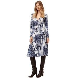 Aritzia Babaton Tyler Wrap Print Long Midi Dress